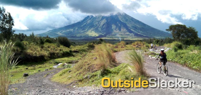 Biking at Mayon