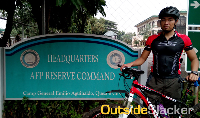 Biking in Camp Aguinaldo
